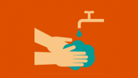 Limpe as mãos e antebraços