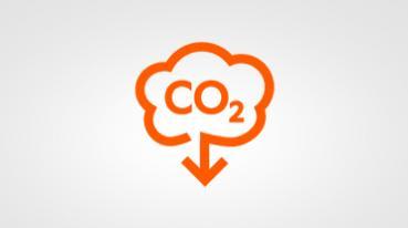Redução na emissão de gás carbônico