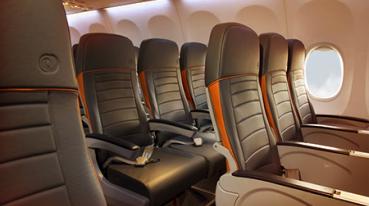 Assentos de couro da aeronave Gol